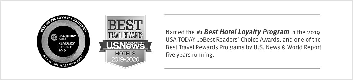 Named the #1 Best Hotel Loyalty Program in the 2019 USA TODAY 10Best Readers' Choice Awards, and one of the Best Travel Rewards Programs by U.S. News & World Report five years running.